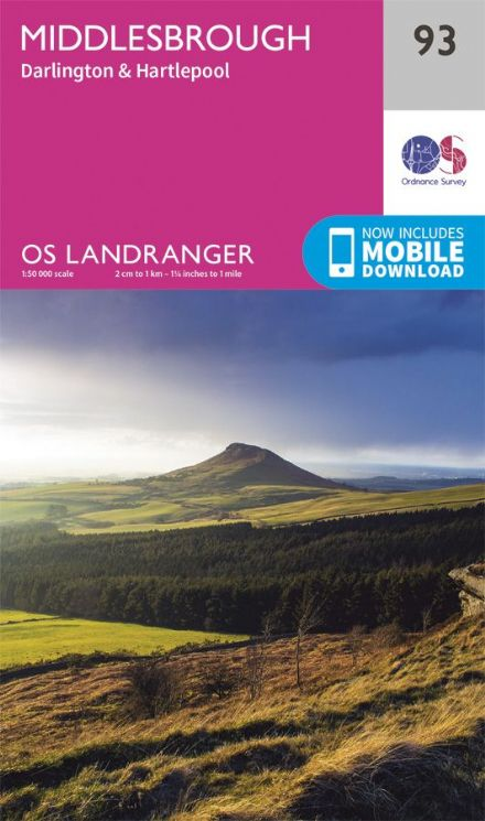 OS Landranger 93 Middlesbrough
